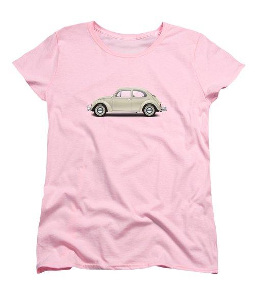 1965 Volkswagen 1200 Deluxe Sedan - Panama Beige Women's T-Shirt (Standard Cut) by Ed Jackson