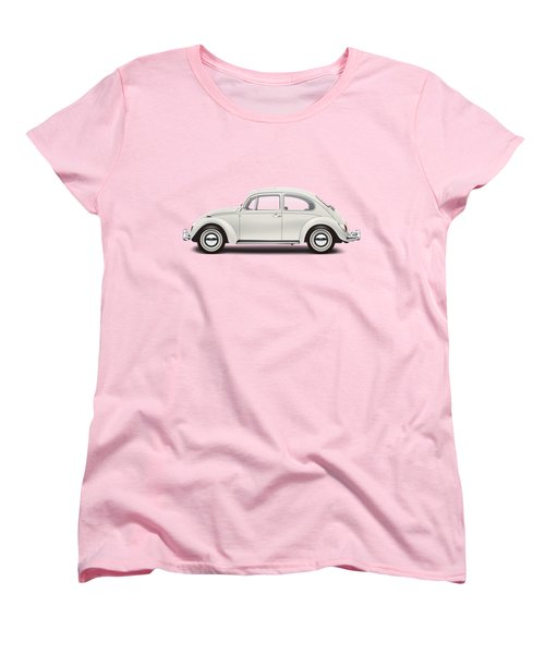1966 Volkswagen 1300 Sedan - Pearl White Women's T-Shirt (Standard Cut) by Ed Jackson