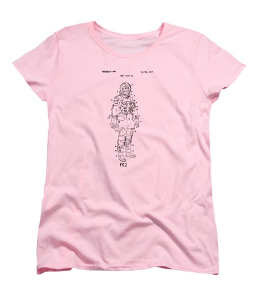 1973 Astronaut Space Suit Patent Artwork - Vintage Women's T-Shirt (Standard Cut) by Nikki Marie Smith