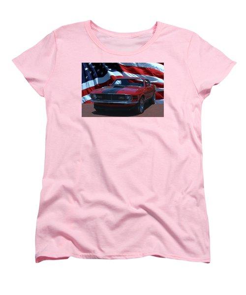 1970 Mustang Mach I Women's T-Shirt (Standard Cut) by Tim McCullough