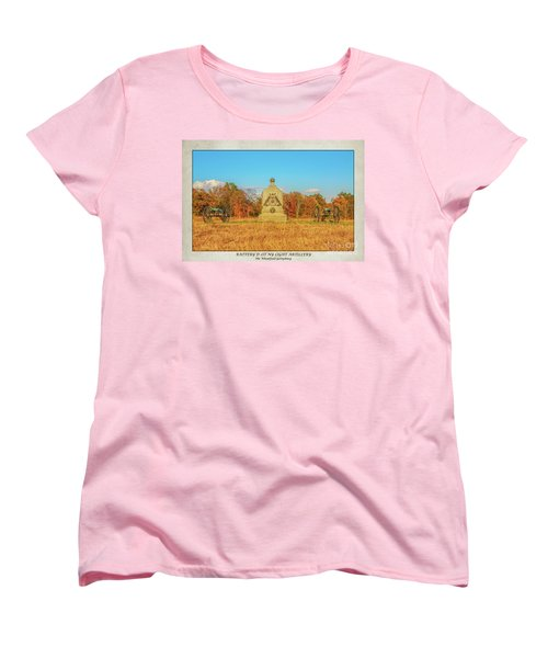 1st New York Battery D Gettysburg Poster Women's T-Shirt (Standard Cut) by Randy Steele