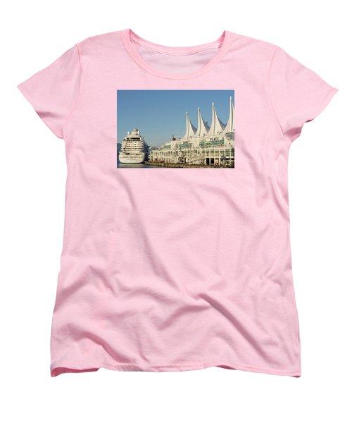 Canada Place Women's T-Shirt (Standard Cut) by Ross G Strachan