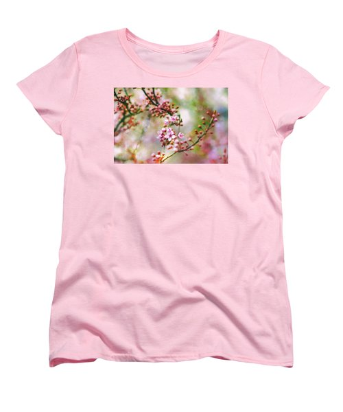 Women's T-Shirt (Standard Cut) featuring the photograph Cherry Blossoms In Spring by Peggy Collins