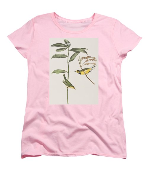 Hooded Warbler  Women's T-Shirt (Standard Cut) by John James Audubon