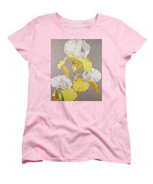 Irises-posthumously Presented Paintings Of Sachi Spohn  Women's T-Shirt (Standard Cut) by Cliff Spohn