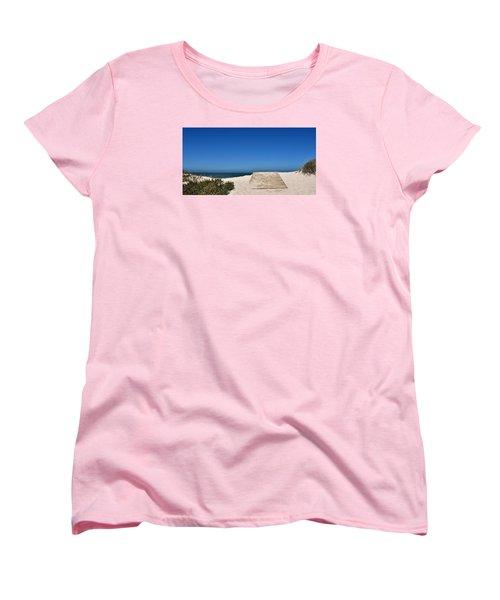 Women's T-Shirt (Standard Cut) featuring the photograph long awaited View by Werner Lehmann