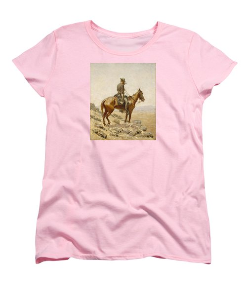 The Lookout Women's T-Shirt (Standard Cut) by Frederic Remington