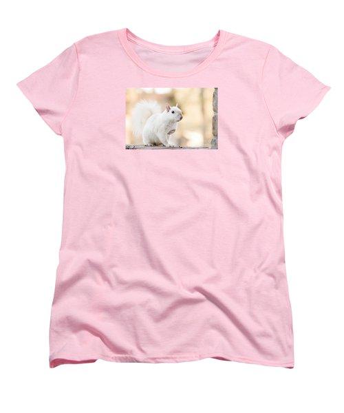 White Squirrel Women's T-Shirt (Standard Cut) by Vizual Studio