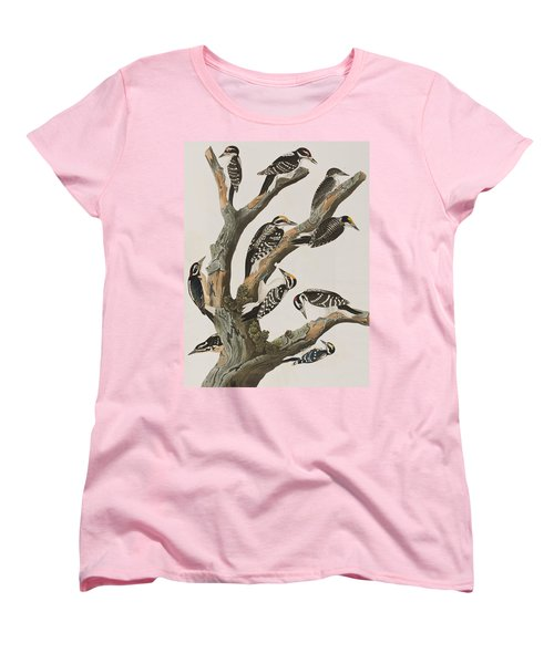 Woodpeckers Women's T-Shirt (Standard Cut) by John James Audubon