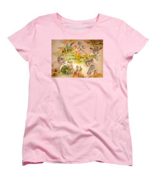 World Of Guinea Pigs And Naked Cats Album Women's T-Shirt (Standard Cut) by Debbi Saccomanno Chan