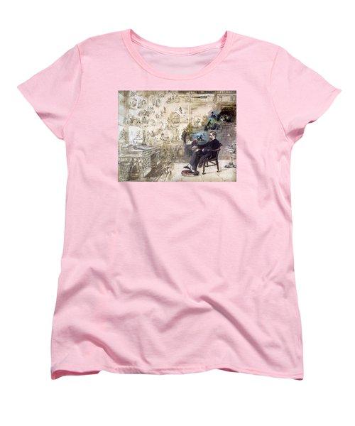 Charles Dickens (1812-1870) Women's T-Shirt (Standard Cut) by Granger