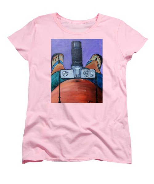 Women's T-Shirt (Standard Cut) featuring the painting 200 Zoom by Gary Coleman
