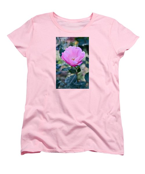 2015 After The Frost At The Garden Pink  Rose Women's T-Shirt (Standard Cut) by Janis Nussbaum Senungetuk