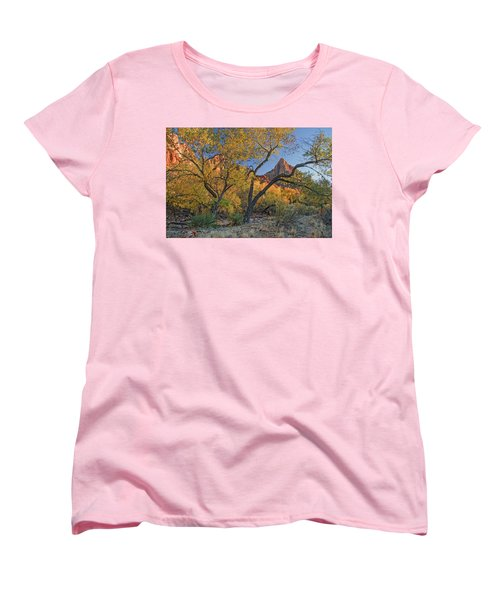 Zion National Park Women's T-Shirt (Standard Cut) by Utah Images