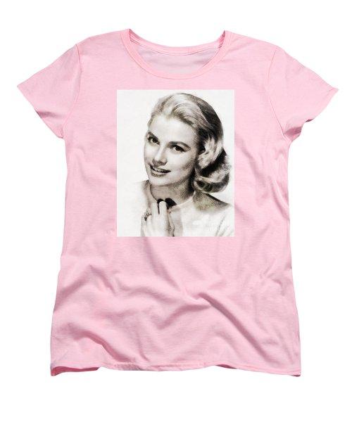 Grace Kelly, Vintage Hollywood Actress Women's T-Shirt (Standard Cut) by John Springfield