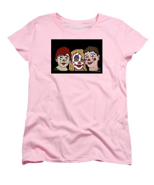 3 Jesters Women's T-Shirt (Standard Cut) by Megan Dirsa-DuBois