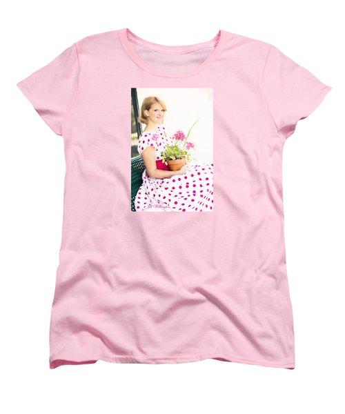 Vintage Val Ice Cream Parlor Women's T-Shirt (Standard Cut) by Jill Wellington