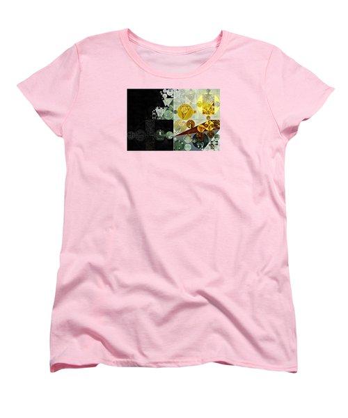 Women's T-Shirt (Standard Cut) featuring the digital art Abstract Painting - Smoky Black by Vitaliy Gladkiy