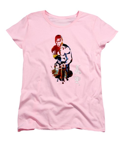 Mike Tyson Collection Women's T-Shirt (Standard Cut) by Marvin Blaine