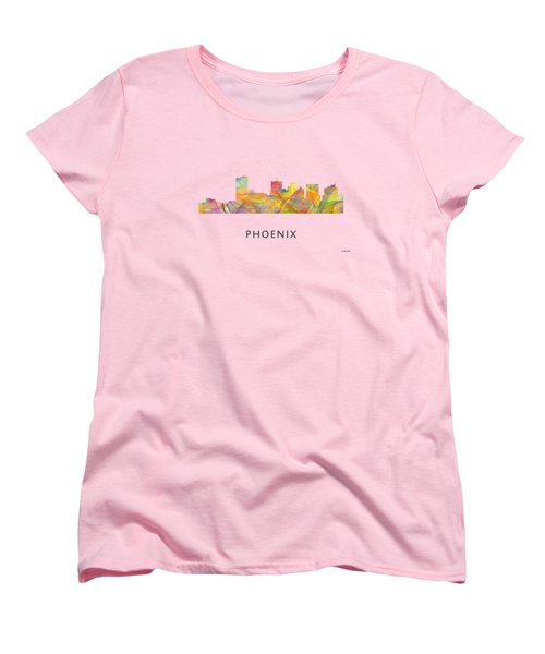 Phoenix Arizona Skyline Women's T-Shirt (Standard Cut) by Marlene Watson