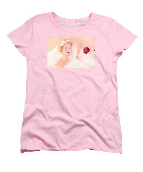 Vintage Valentine Date Women's T-Shirt (Standard Cut) by Jill Wellington