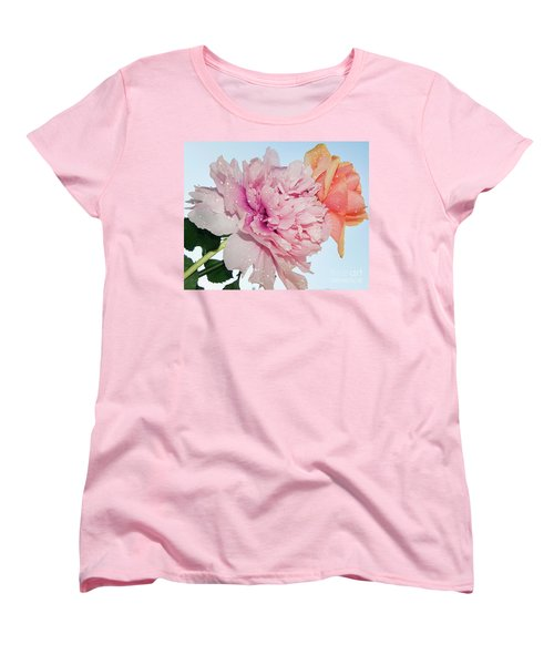 Two Flowers Women's T-Shirt (Standard Cut) by Elvira Ladocki