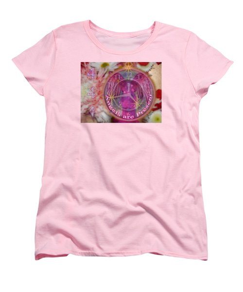 #8913_444 Angels Are Present  Women's T-Shirt (Standard Cut) by Barbara Tristan