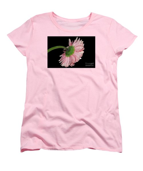 Pink Gerber Women's T-Shirt (Standard Cut) by Elvira Ladocki