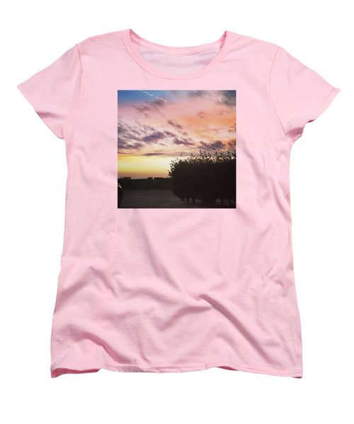 A Beautiful Morning Sky At 06:30 This Women's T-Shirt (Standard Cut) by John Edwards
