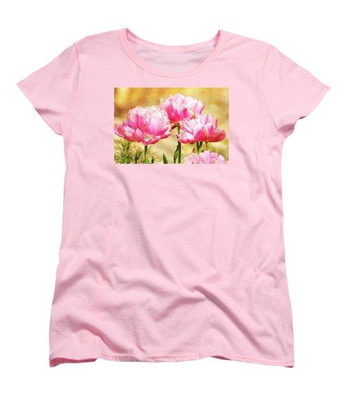 A Bouquet Of Tulips Women's T-Shirt (Standard Cut) by Trina Ansel