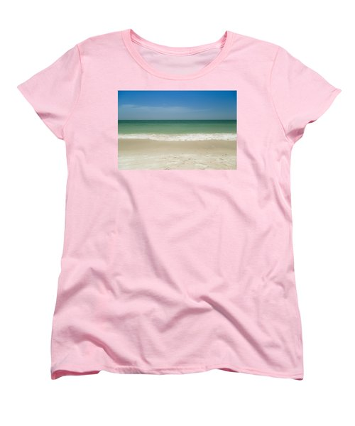 A Calm Wave Women's T-Shirt (Standard Cut) by Christopher L Thomley