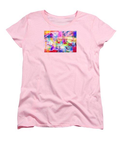 Wayzata Collage Women's T-Shirt (Standard Cut) by Susan Stone