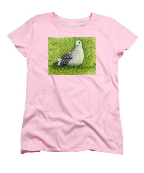 A Gull On The Grass Women's T-Shirt (Standard Cut) by Laurie Morgan