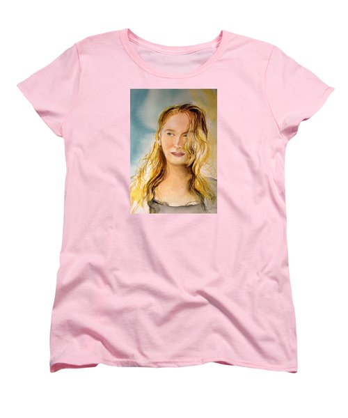 Women's T-Shirt (Standard Cut) featuring the painting A Little Bit Of Meryl by Allison Ashton