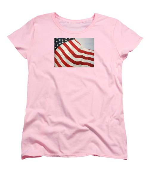 Women's T-Shirt (Standard Cut) featuring the painting A Little Glory by Carol Sweetwood