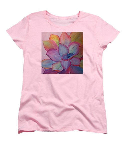 Women's T-Shirt (Standard Cut) featuring the painting A Reason For Being by Sandi Whetzel