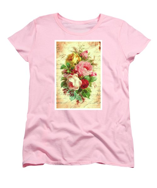 A Rose Speaks Of Love Women's T-Shirt (Standard Cut) by Tina LeCour