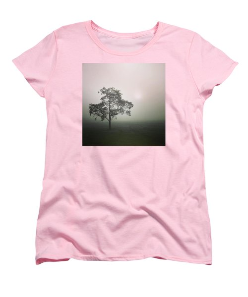 A Walk Through The Clouds #fog #nuneaton Women's T-Shirt (Standard Cut) by John Edwards