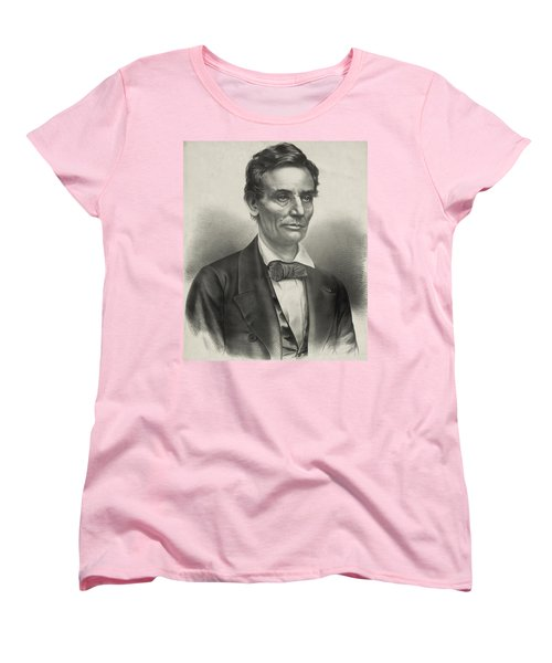 Women's T-Shirt (Standard Cut) featuring the photograph Abraham Lincoln - As A Presidential Candidate by International  Images