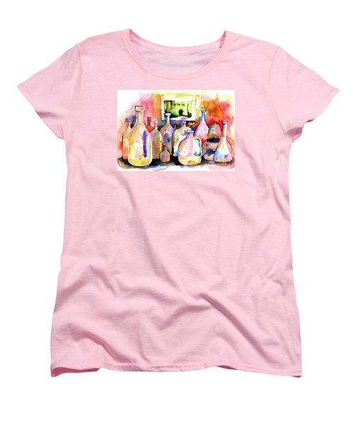 Women's T-Shirt (Standard Cut) featuring the painting Abstract Containers by Terry Banderas