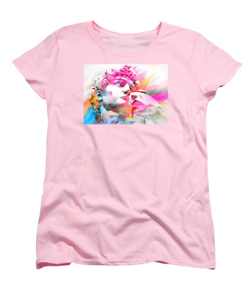 Women's T-Shirt (Standard Cut) featuring the painting Abstract David Michelangelo 5 by J- J- Espinoza