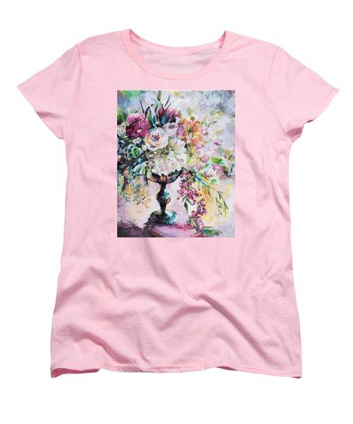 Abstract Floral Women's T-Shirt (Standard Cut)