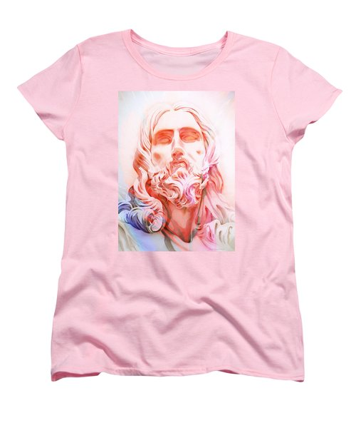 Women's T-Shirt (Standard Cut) featuring the painting Abstract Jesus 1 by J- J- Espinoza