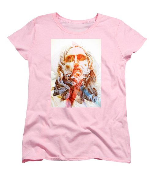 Women's T-Shirt (Standard Cut) featuring the painting Abstract Jesus 2 by J- J- Espinoza