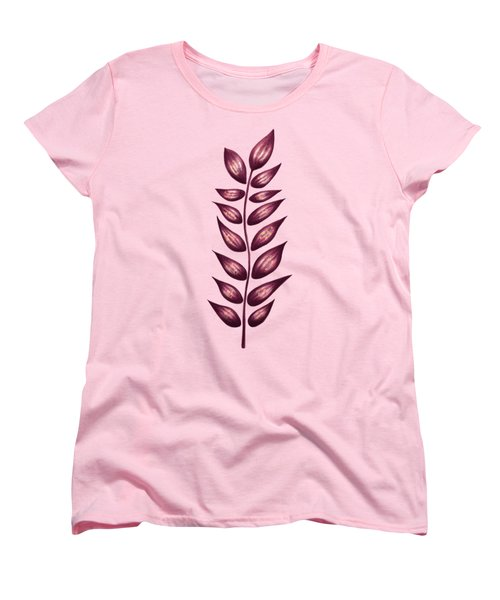 Abstract Plant With Pointy Leaves In Purple And Yellow Women's T-Shirt (Standard Cut)