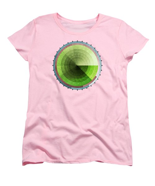 Abstract Rings Of Green Women's T-Shirt (Standard Cut) by Phil Perkins