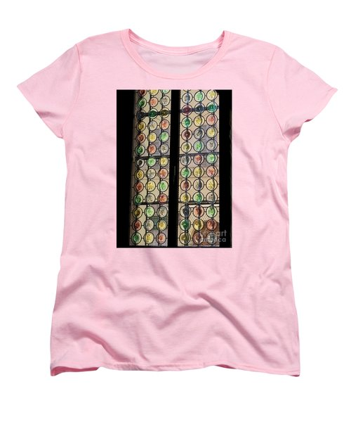 Abstract Stained Glass Women's T-Shirt (Standard Cut) by Patricia Hofmeester