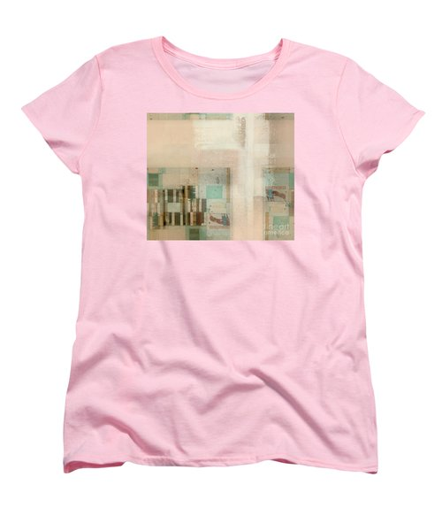 Women's T-Shirt (Standard Cut) featuring the digital art Abstractitude - C01b by Variance Collections