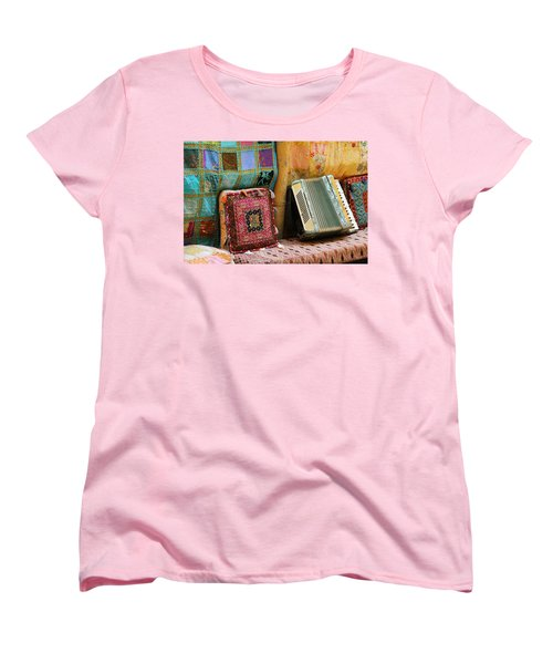 Accordion  With Colorful Pillows Women's T-Shirt (Standard Cut) by Yoel Koskas