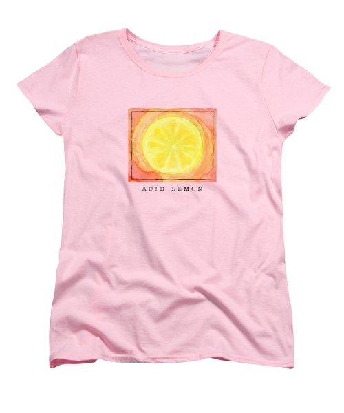 Acid Lemon Women's T-Shirt (Standard Cut) by Kathleen Wong